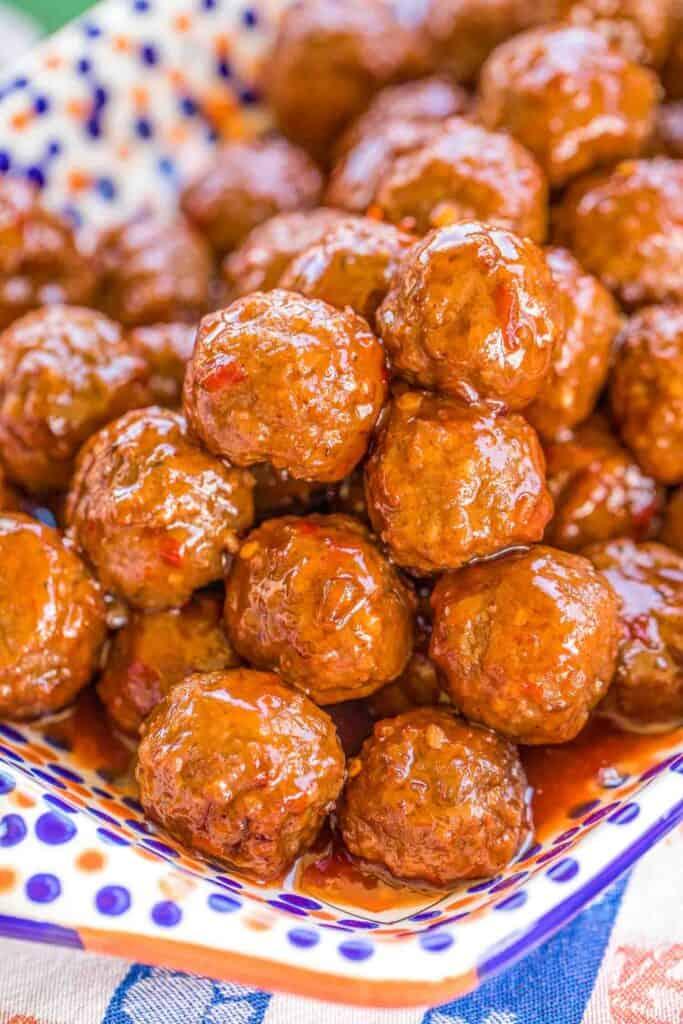 platter of thai meatballs