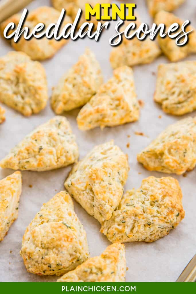 cheddar biscuit on a baking sheet