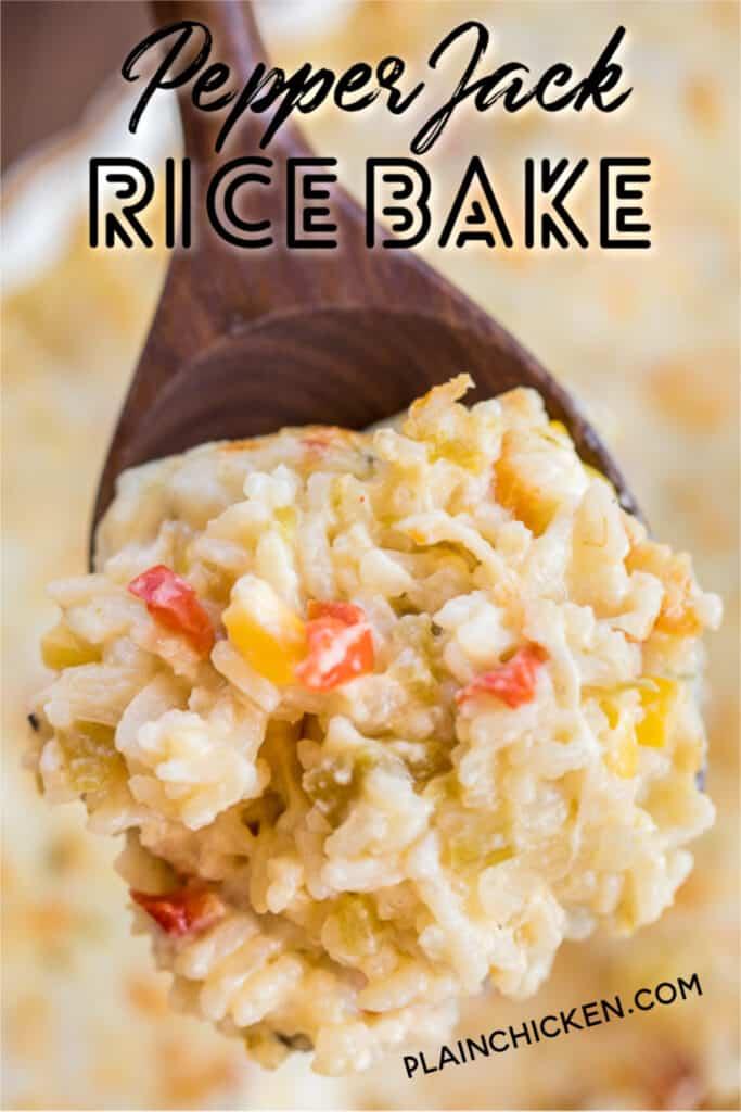 pepper jack rice bake