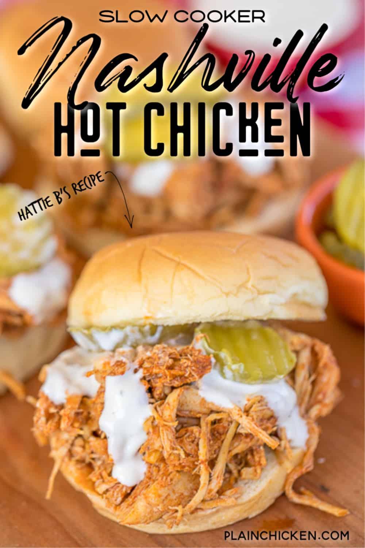 Slow Cooker Nashville Hot Chicken Plain Chicken
