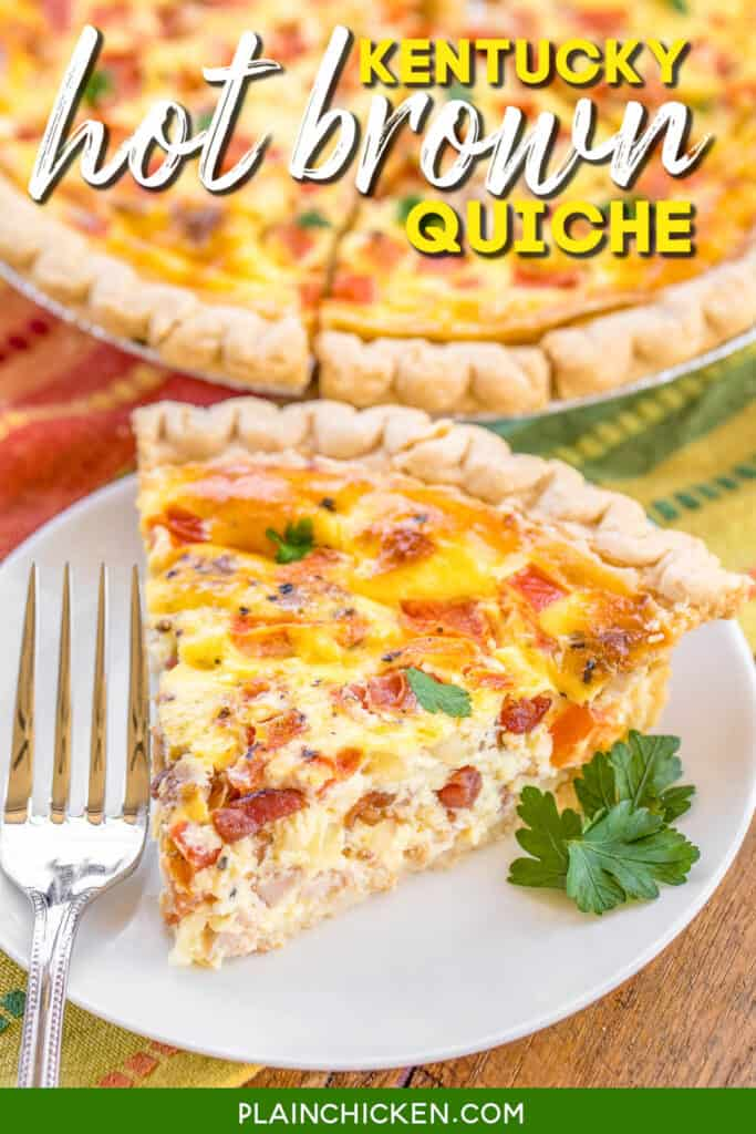 slice of quiche on a plate