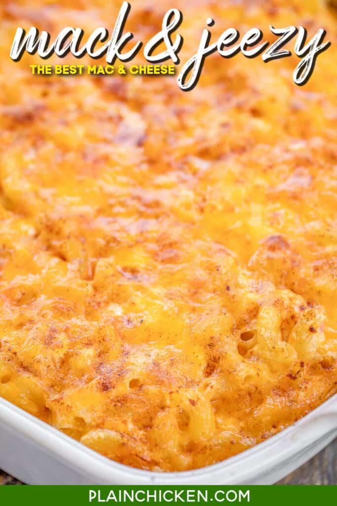 macaroni and cheese in baking dish