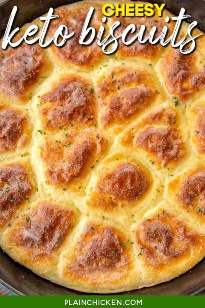 skillet of keto biscuits
