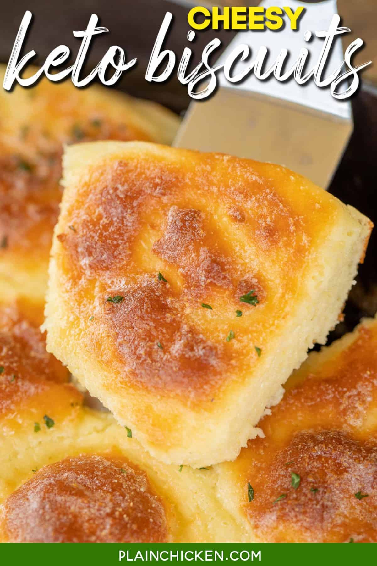 Cheesy Keto Biscuits Plain Chicken