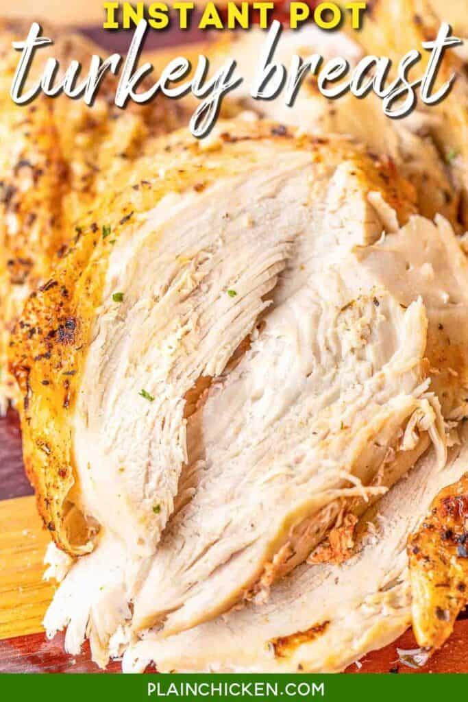 turkey breast on cutting board