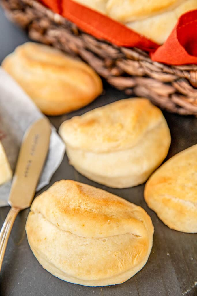 baked rolls on the table