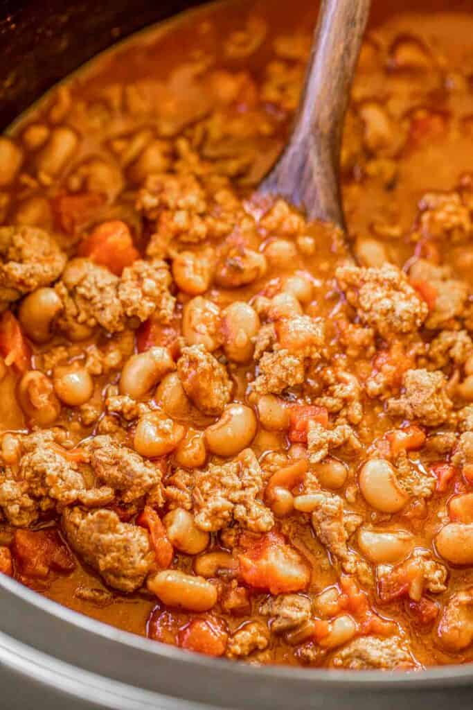 crockpot of chili
