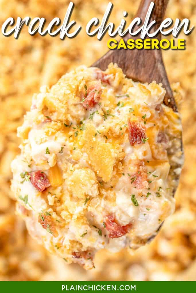 spoonful of chicken bacon ranch casserole