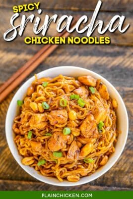 bowl of chicken and ramen noodles