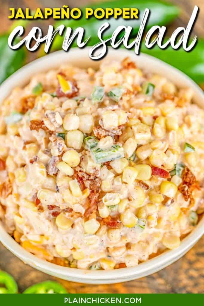 bowl of corn salad dip