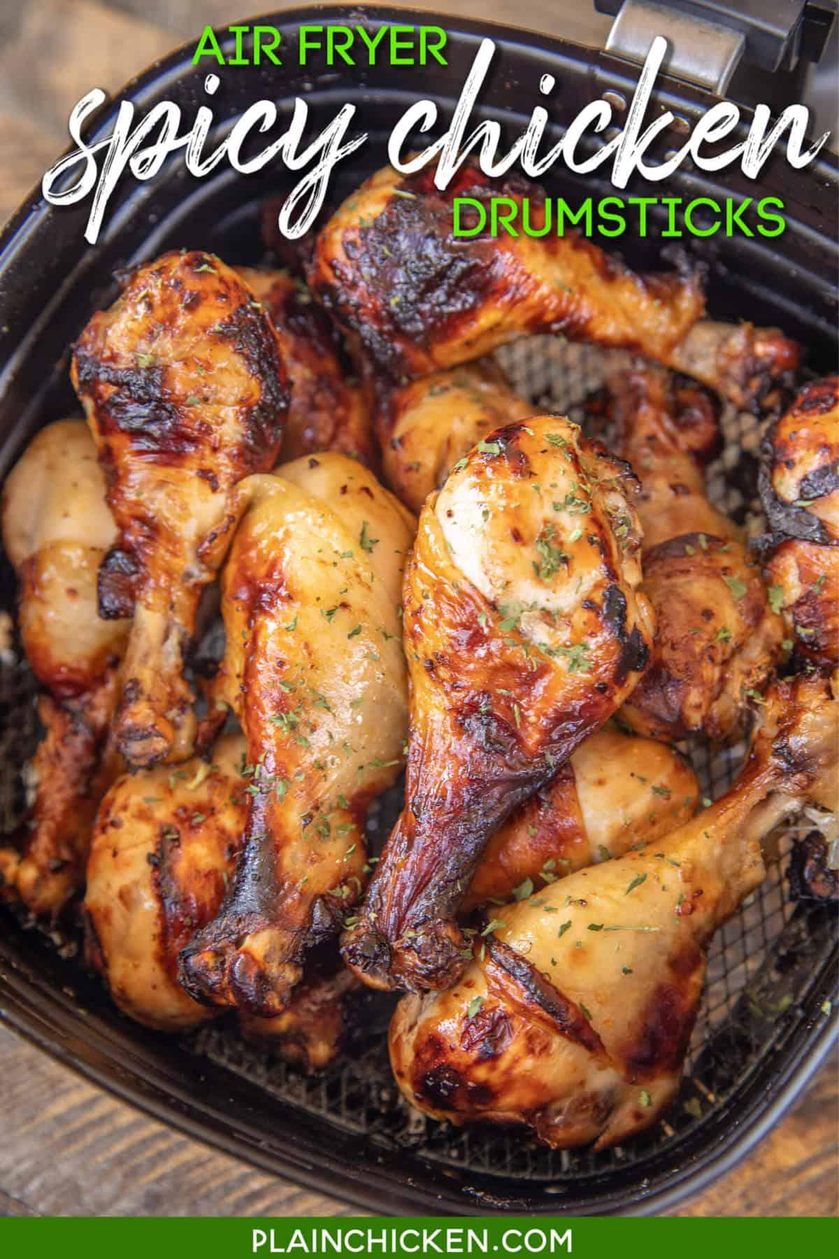 Air Fryer Spicy Chicken Drumsticks Plain Chicken