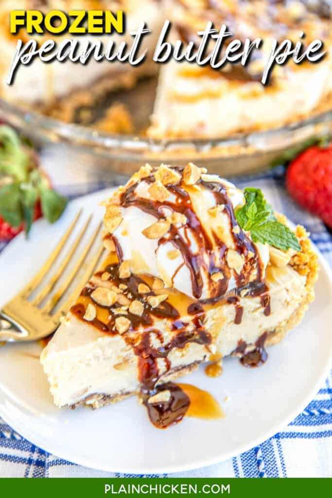 slice of peanut butter pie on a plate