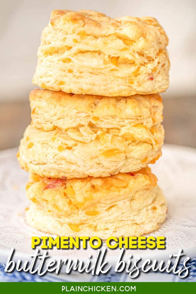 stack of 3 buttermilk biscuits