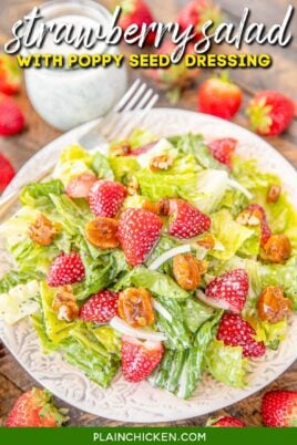plate of strawberry salad