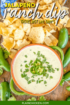 bowl of chuy's jalapeño ranch dip