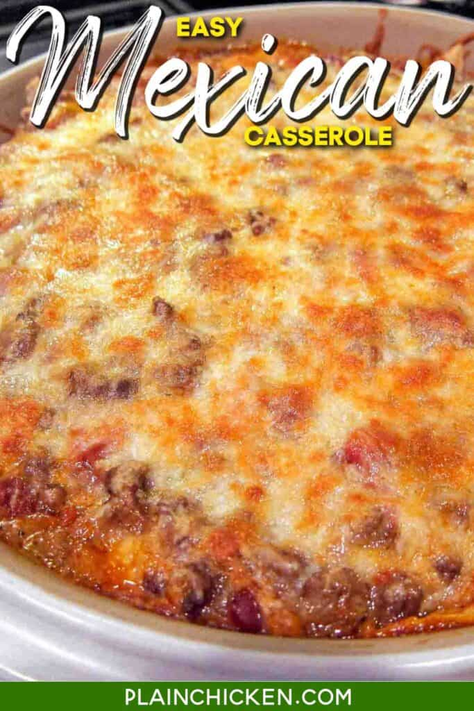 baking dish of mexican casserole