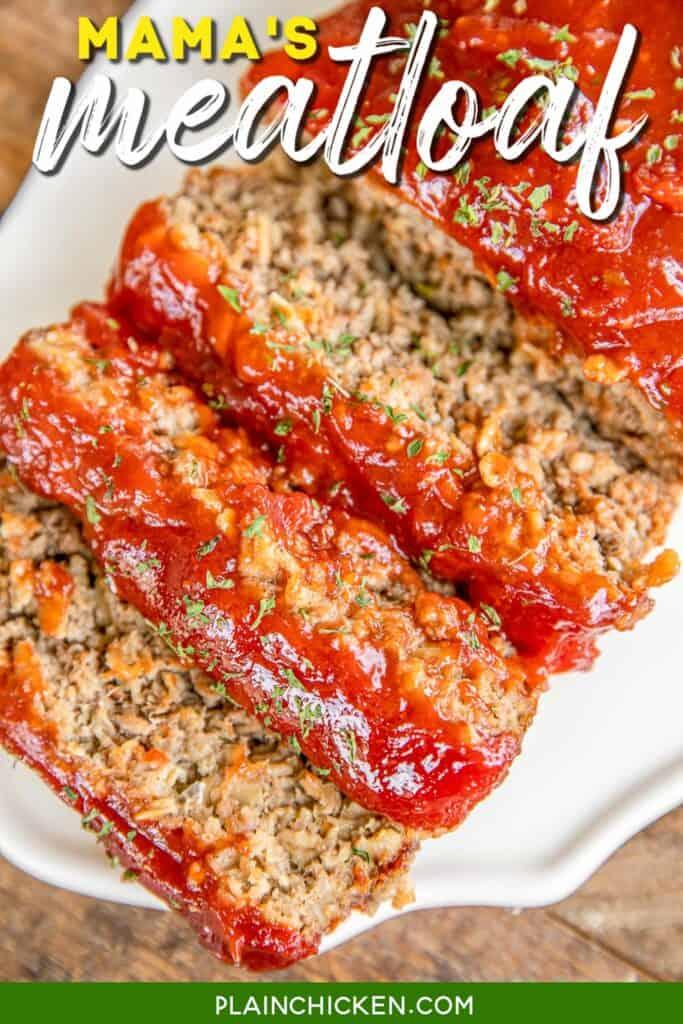 platter of sliced meatloaf