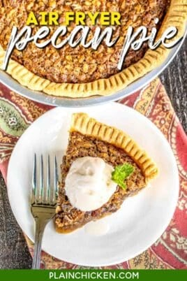 slice of pecan pie on a plate