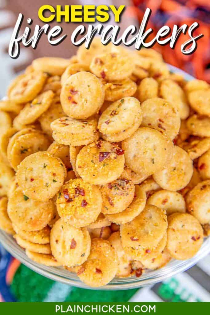 bowl of spicy cheese ritz crackers