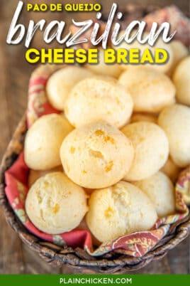 basket of brazilian cheese bread