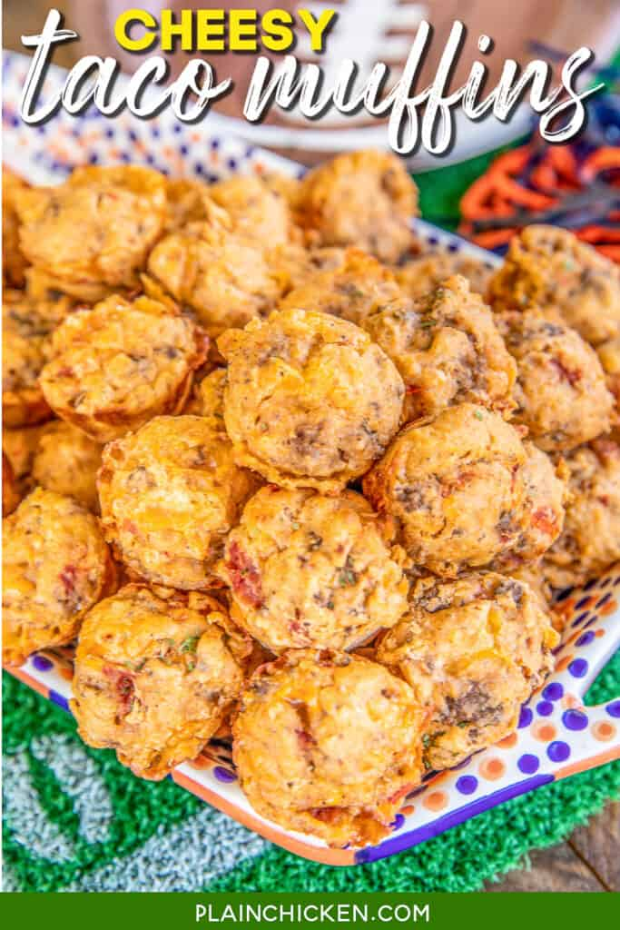 platter of taco snack muffins