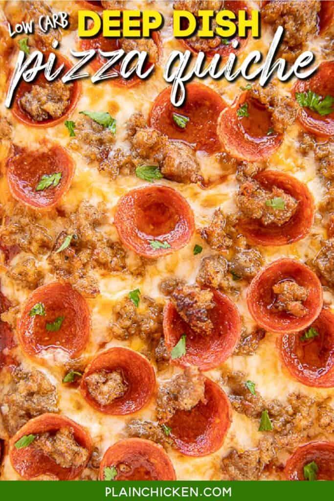 baking dish of pizza quiche