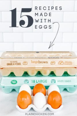 recipes made with eggs