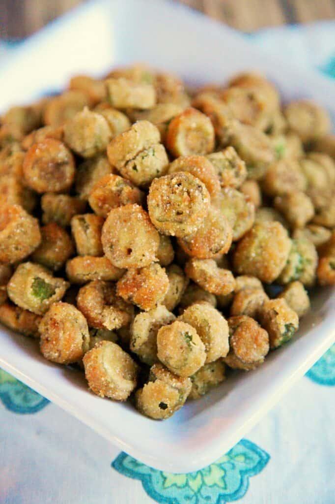 plateful of fried okra