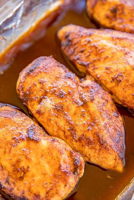 3-Ingredients Sweet and Spicy Cajun Chicken - seriously THE BEST baked chicken EVER! Only 3 ingredients and ready in under 30 minutes!! Chicken, brown sugar, cajun seasoning. There are never any leftovers. We make these at least once a month. SO good! Serve over rice or potatoes for an easy weeknight meal! #easydinnerrecipes #chickenrecipes #mardigras