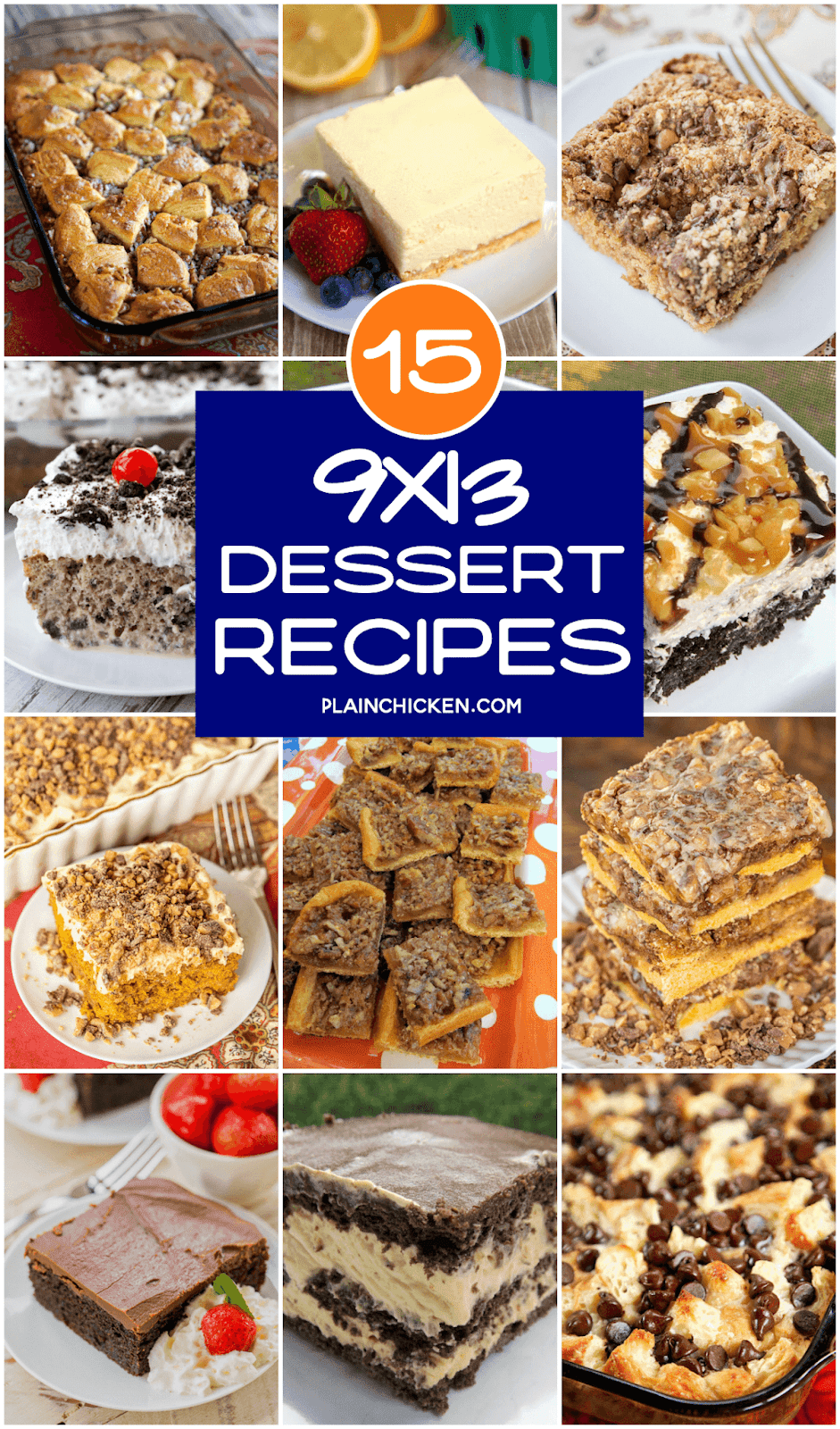 collage of pictures of dessert recipes