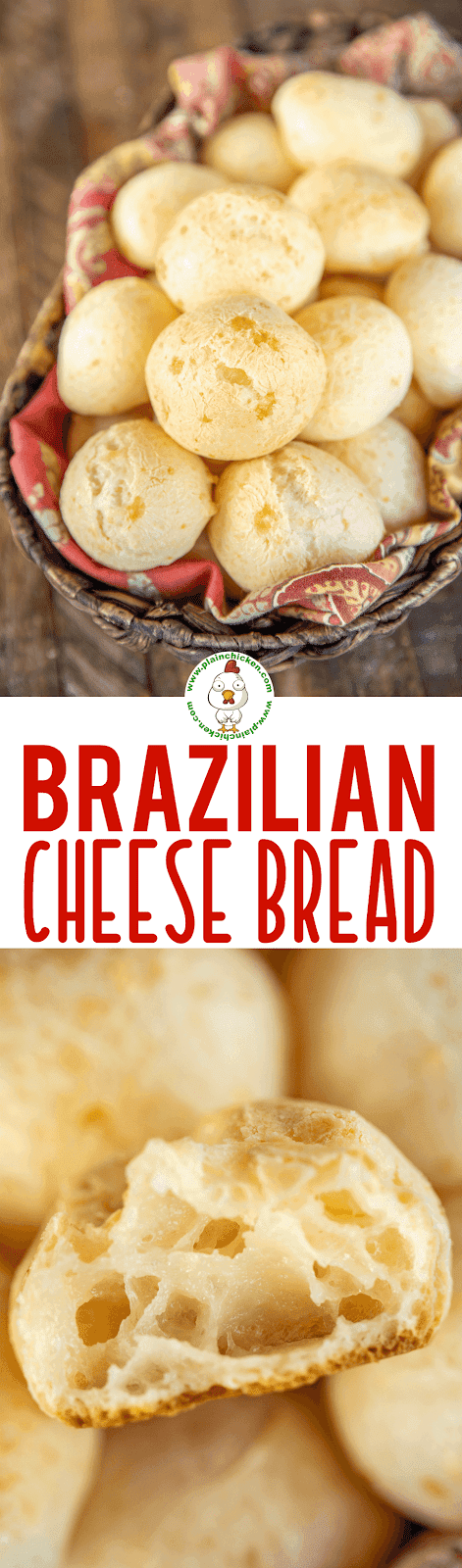 collage of 2 photos of Brazilian cheese bread