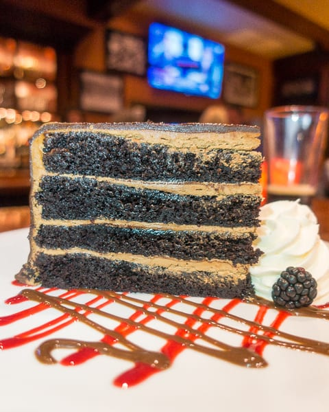 Chocolate Layer Cake at Ditka's Restaurant in Chicago