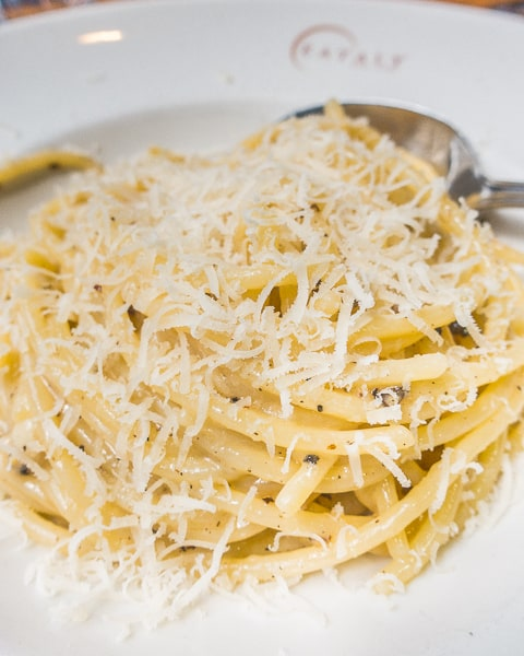 Cacio e Pepe (Pasta with Cheese and Pepper) at Eataly Chicago