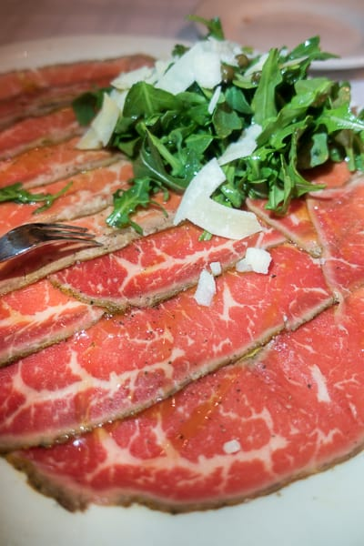 Carpaccio at Gibson's Steakhouse in Chicago