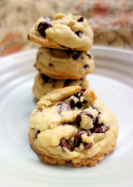 Coconut Oil Chocolate Chip Cookies - swap coconut oil for the butter! SO good! Just a hint of coconut flavor. Crispy on the outside and soft on the inside - perfect!