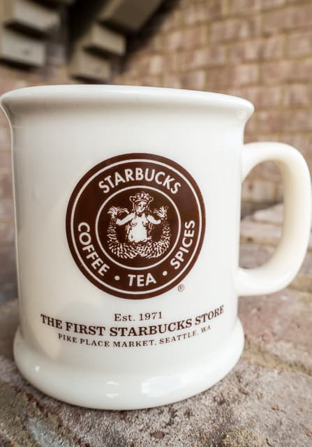 The Original Starbucks in Pike Place Market - Seattle, WA - skip the line for coffee and get a mug instead!