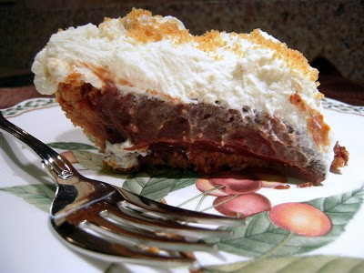 Nutter Butter Chocolate Cream Pie - Chocolate Pie with a Nutter Butter Crust