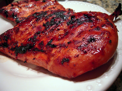 Grilled Coca-Cola Chicken - seriously delicious! Chicken marinated in coca-cola, soy sauce, garlic, brown sugar, balsamic vinegar, and lime juice. Mix the marinade together and let the chicken marinate overnight in the refrigerator. We make this all the time! It is seriously delicious!!!