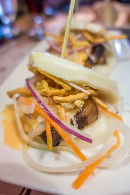 Pork Belly Steam Buns at Nine Dragons Restaurant - Epcot Walt Disney World