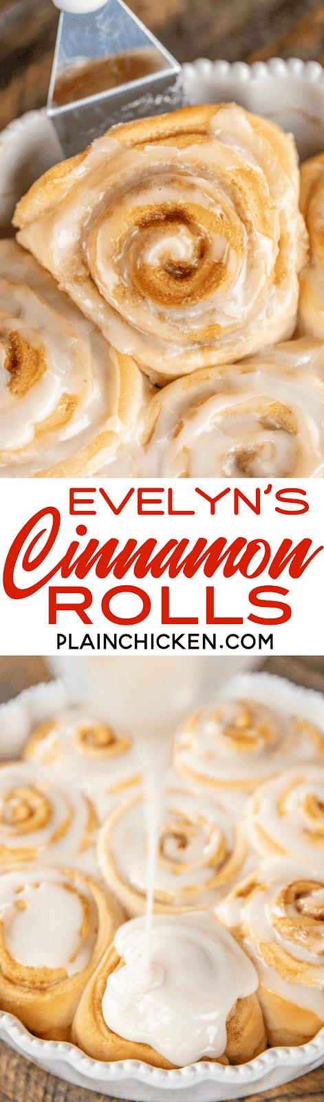glazed homemade cinnamon rolls