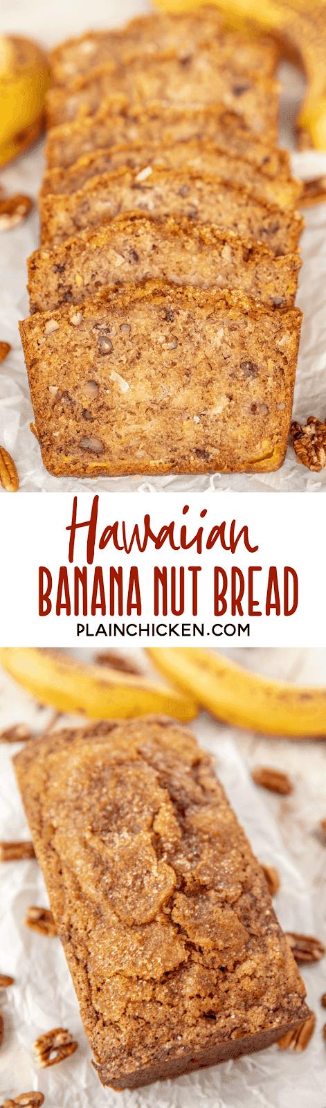 Hawaiian Banana Nut Bread Plain Chicken
