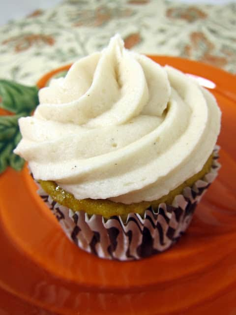 Pumpkin Cupcakes with Apple Butter Buttercream