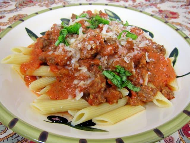 Spicy Tuscan Style Sausage Ragu