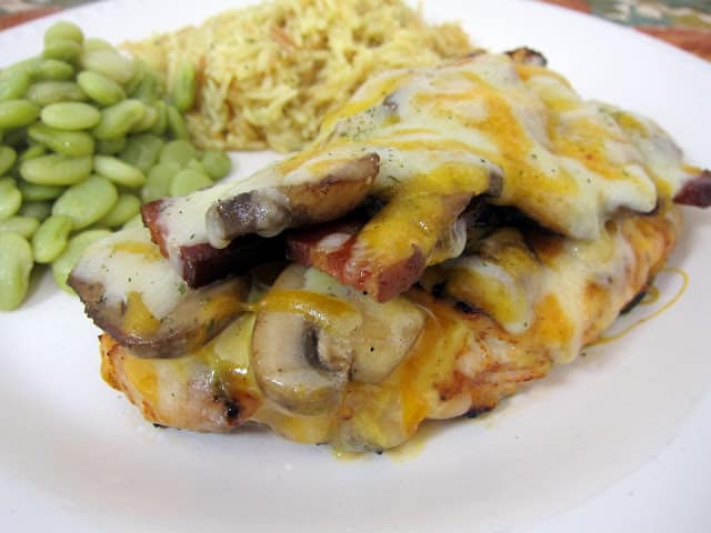 Alice Springs Chicken - seasoned chicken, honey mustard, mushrooms, bacon and cheese - better than the original!