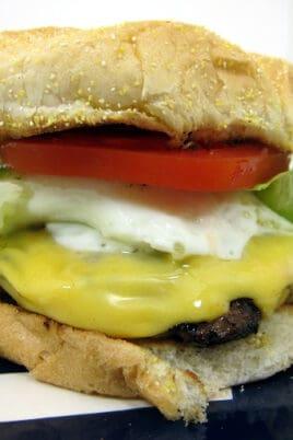 burger on a platter