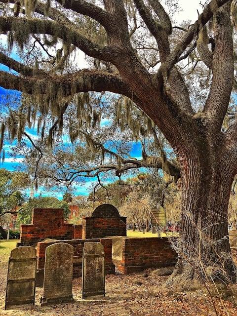 Cemetery in Savannah Georgia