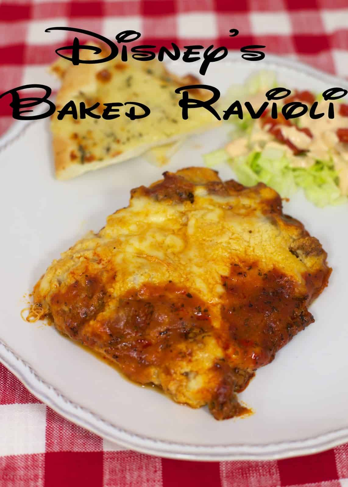 Disney's Baked Ravioli - Frozen ravioli smothered with a homemade meat sauce. Recipe from the Epcot Food and Wine Festival - the sauce is amazing! Tastes better than any restaurant! Can make ahead and freeze for later.