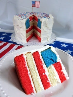 4th Of July Flag Cake Plain Chicken