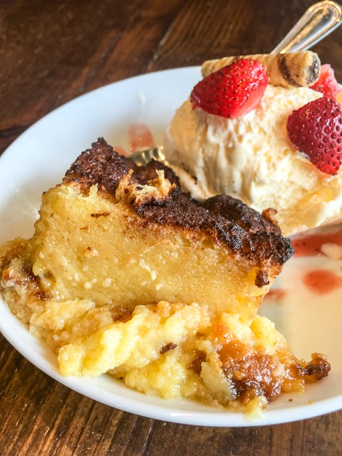 White Chocolate Bread Pudding from The Front Porch at Ross Bridge in Birmingham, AL - SWOON!