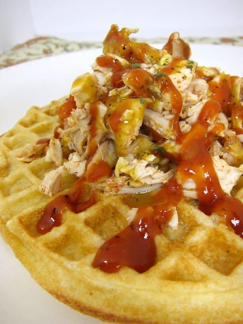 BBQ Chicken & Buttermilk Waffles
